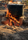 Camping fire Royalty Free Stock Images