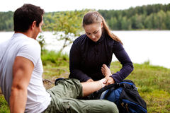 Camping First Aid Stock Photos