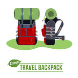 Camping  flat icon Stock Images