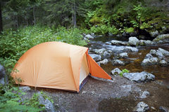 Camping in the Forest Royalty Free Stock Photo