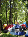 Camping in the Forest Royalty Free Stock Image