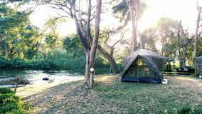 Camping in forest. Camping​ in forest of thailand Royalty Free Stock Photo