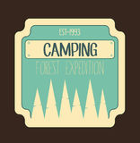 Camping forest expedition badge. Outdoor logo and emblem. Royalty Free Stock Images