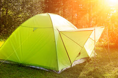 Camping in the Forest Royalty Free Stock Photography