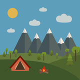 Camping in the forest Stock Image