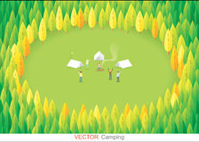 Camping in the forest,vector Royalty Free Stock Photography
