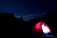 Camping in France Royalty Free Stock Photography