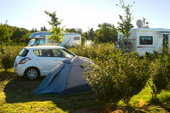 Camping in France Royalty Free Stock Image