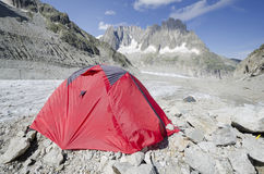 Camping in the french Alps Royalty Free Stock Photography