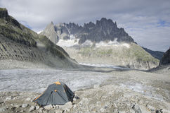 Camping in the french Alps Stock Photography