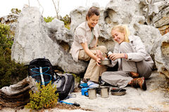 Camping friends Royalty Free Stock Photo