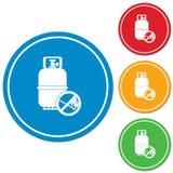 Camping gas bottle icon Stock Photos