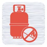 Camping gas bottle icon. Flat icon isolated. Vector illustration Stock Image