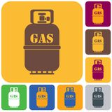Camping gas bottle icon. Flat icon isolated. Vector illustration Stock Photography