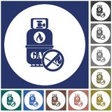 Camping gas bottle icon. Flat icon isolated. Vector illustration Stock Photos