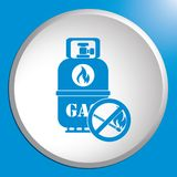 Camping gas bottle icon. Flat icon isolated. Vector illustration Stock Images