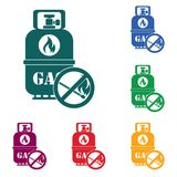 Camping gas bottle icon. Flat icon . Vector illustration Stock Image