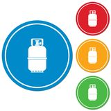 Camping gas bottle icon. Flat icon isolated. Vector illustration Stock Photo