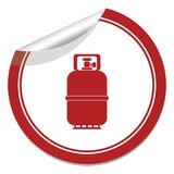 Camping gas bottle icon. Flat icon isolated Royalty Free Stock Images