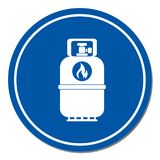 Camping gas bottle icon. Flat icon isolated. Vector illustration Royalty Free Stock Photo