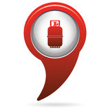 Camping gas bottle icon. Flat icon isolated Stock Photos