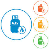 Camping gas bottle icon. Flat icon isolated Royalty Free Stock Photos
