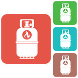 Camping gas bottle icon. Flat icon isolated Royalty Free Stock Image