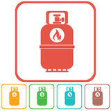 Camping gas bottle icon. Flat icon isolated Stock Photography