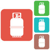 Camping gas bottle icon. Flat icon isolated Stock Images