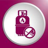 Camping gas bottle icon Royalty Free Stock Images