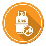 Camping gas bottle icon Royalty Free Stock Image