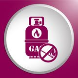 Camping gas bottle icon Stock Photography