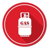 Camping gas bottle icon Stock Photos