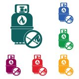 Camping gas bottle icon. Flat icon isolated. Vector illustration Royalty Free Stock Images