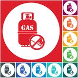Camping gas bottle icon. Flat icon isolated. Vector illustration Royalty Free Stock Photography
