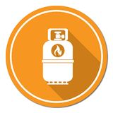 Camping gas bottle icon. Flat icon isolated Stock Image
