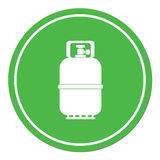 Camping gas bottle icon Royalty Free Stock Photos