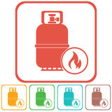 Camping gas bottle icon Stock Photo