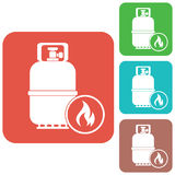 Camping gas bottle icon Stock Image