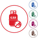 Camping gas bottle icon Royalty Free Stock Photography