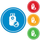 Camping gas bottle icon Royalty Free Stock Photo