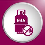 Camping gas bottle icon. Flat icon . Vector illustration Stock Photo