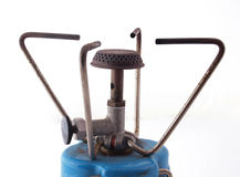 Camping gas cooker. On a white background Royalty Free Stock Photos