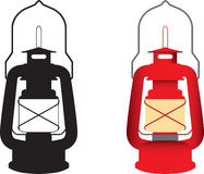 Camping gas light red and black Royalty Free Stock Image
