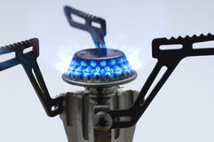 Camping gas stove Royalty Free Stock Images