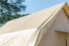 Camping Gear, Rainproof Tent. Camping Gear, Rainproof Tent dirty with cream color Stock Photography