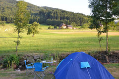 Camping in germany Royalty Free Stock Photography