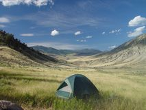 Camping in the Great Outdoors Stock Photography