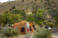 Camping ground in desert 2 Royalty Free Stock Photo