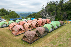 Camping grounds Doi Samer Dow Stock Image